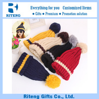 Walmart hand knitted winter beanie hats with top ball