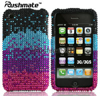 For Apple iphone 3G 3GS Colorful Rhinestone Diamond Crystal Case