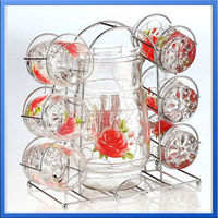 7 pcs hand made water glassware