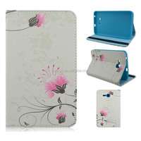 Pink Floral Flip Folio Stand TPU+PU Leather Tablet Case For Samsung Galaxy Tab 3 Lite 7inch T110/T111 Wholesale