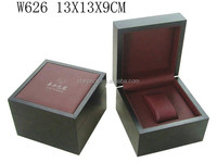 High Quality PU Leather Wooden Watch Box Gift Packaging Case Leather Lining with Pillow W626