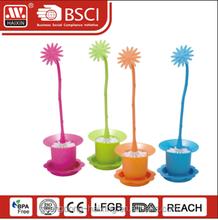 Haixing plastic toilet brush with FLOWER POT base