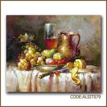 Colorful wine glass oil painting