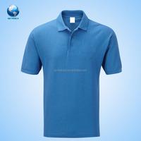Sublimate customized made men plain t shirt polo collar
