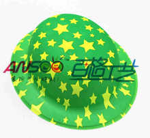 Party supplies PVC round Hats with Printed stars