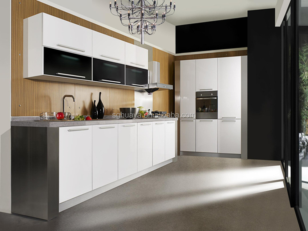 Modern design top quality lacquer mdf paint colors kitchen for Modern paint colors for kitchen cabinets