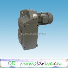ST Drive Brand F series parallel shaft hollow shaft helical gearbox with 1HP 3 phase AC motor