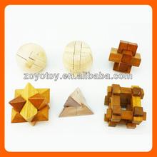 wooden brain teaser mind puzzle game toy