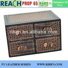 2015 leather desktop storage box drawer storage container