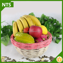 NTS High Quality Top Solid Bamboo Constructions Bamboo Fruit Basket