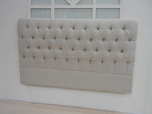 French style wooden cushion headboard bed