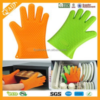BPA Free Amazon Hot Selling Kitchen Silicone mitt Wholesale Silicone Oven Mitt