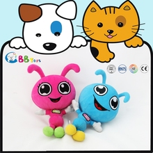2015 new colourful plush stuffed blue and pink insects plush toy