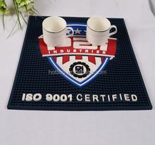 custom logo print durable pvc branded beer bar rail mat
