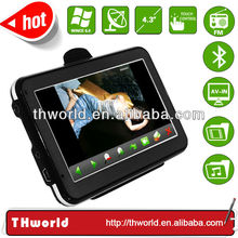factory bottom price 4.3 inch India map sat nav system with 800MHz CPU