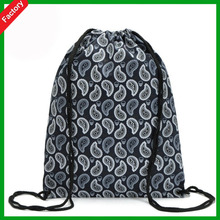 Custom plain color waterproof drawstring Polyester shoe bags from china factory