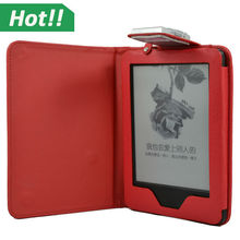 led light case for amazon 2014 new kindle touch screen 7th 7 generation 6inch flip leather case
