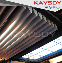 Small bullet shaped suspended Aluminum screen ceiling Suitable for large shopping malls, office buildings, subway