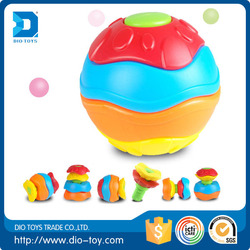 New design educational plastic colorful transform ball toys