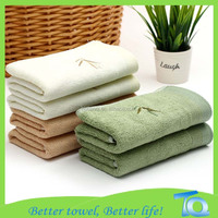 China towel manufacture supply plain dyed super soft 100 bamboo fiber towel