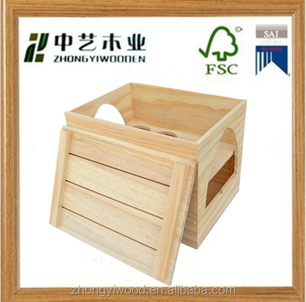 Handmade rectangle vintage cheap wooden wine crates for for Vintage crates cheap