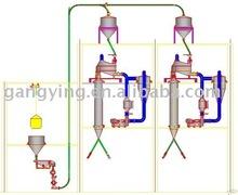 papasfritas y copos de continuo para secador de grapa de poliester fibra de línea de producción