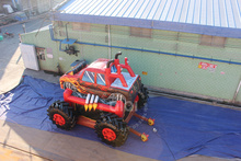 fire truck inflatable bounce house, construction truck inflatable bounce house