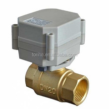 Two-way electrical motor water ball valve for HVAC system