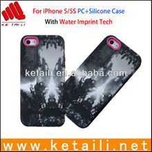 PC+Silicone Water Imprint Mobile Case Factory