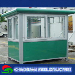 customized prefabricated design Portable mobile sentry box/security booth