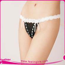 Wholesale 2012 Sex Womens Black Transparent Lace Panties
