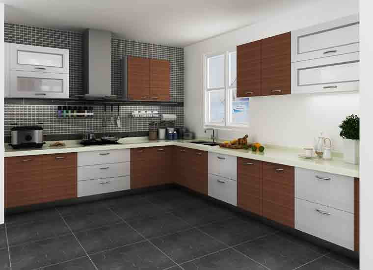 Modular kenya project simple l shaped small kitchen for Best brand of paint for kitchen cabinets with papiers origami