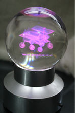 3d laser engraving personalized LED light base personalized engraved crystal ball