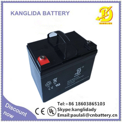 storage lead acid battery, 12v33ah rechargeable vrla battery for sweeper