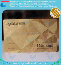 Plastic Metallic Foil VIP Card With Embossed Number