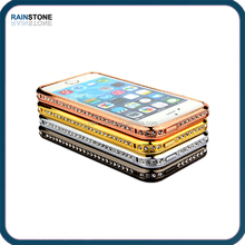 New arrival luxury bling diamond aluminum bumper case for Apple iPhone 4, diamond case for iPhone 4S