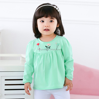 10305 long sleeve or long tops children clothing tshirt kids blue tops with frock designs