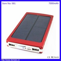 7000mAh Dual USB Battery Charger Power Bank Portable Solar Panel Battery Travel Mobile Charger