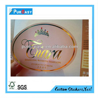 Custom high quality gold stamping wine label with free sample