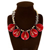 Beaded Necklace Resin Flower Necklace Necklace Jewelry Fashion Accessories(SWTAA1644)
