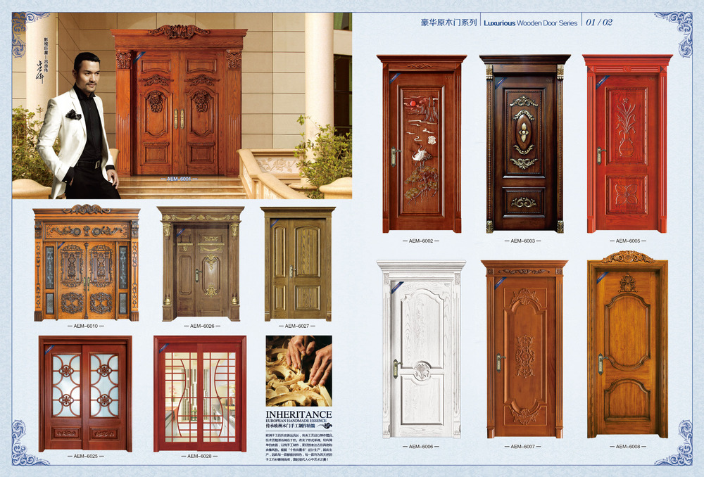 indian house design double swing solid wood exterior front doors of