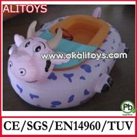 Alitoys 2014 Hot Lovely Calf High Quality Strong PVC Inflatable Sport Water Boat