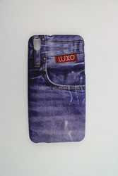 Mobile Phone Fashion Jeans Design Hard Plastic Case Back Cover for HTC Desire 816