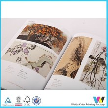 full color printing catalog with perfect binding