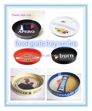 wholesale Antislip food grate round shape plastic trays for food fruit serving tray