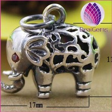 tai silver elephant cute pendant for bracelets and necklaces