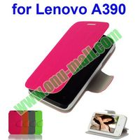 2014 for Lenovo A390 Leather Case