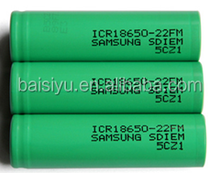 Hot Selling In The USA , BSY 18650 Samsung 22FM green battery 2200mAh 3.7V 20A battery with factory price