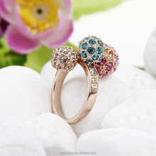 OUXI fashion flower big stone ring design 40037