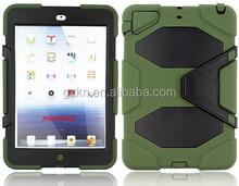 2015 Latest manufacturer directing hard heavy duty unbreak Case popular Armor kickstand rugged case For iPad mini mini2